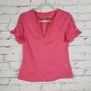 Tory Burch Pink Cotton Blouse